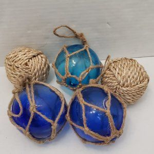 Other - 5 Nautical Glass Fishing Boat Net Rope Floats Ball